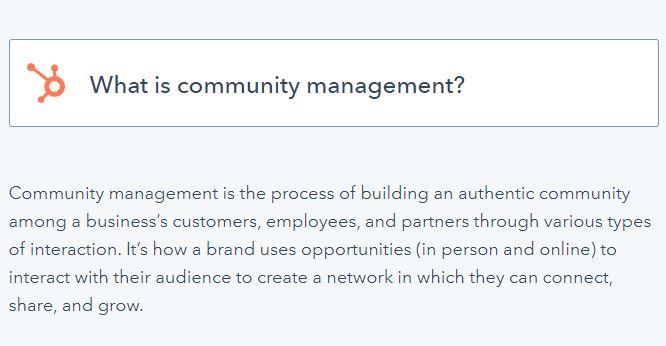 community management definition