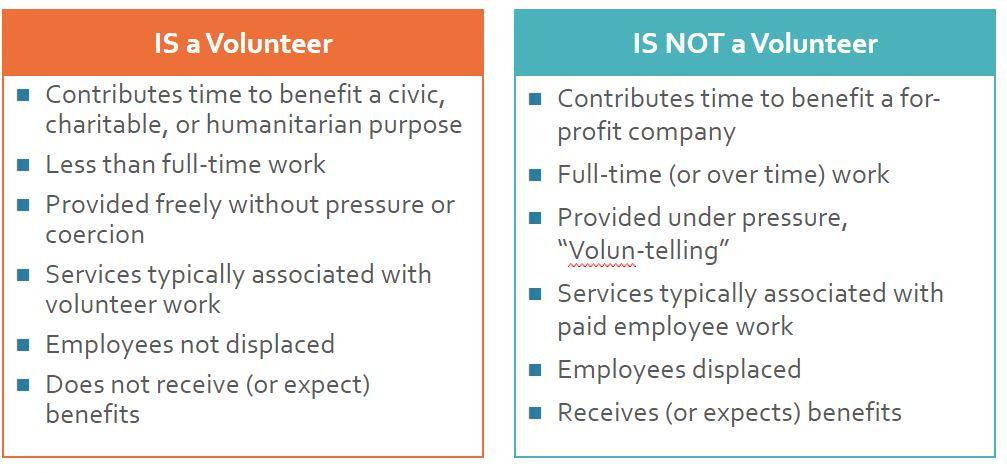 definition of a volunteer